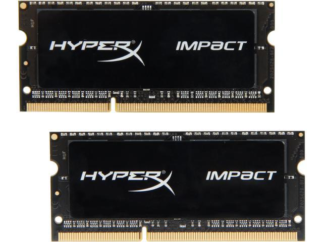 HyperX Impact 16GB (2 x 8GB) 204-Pin DDR3 SO-DIMM DDR3L 1600 (PC3L 12800) Laptop Memory Model HX316LS9IBK2/16