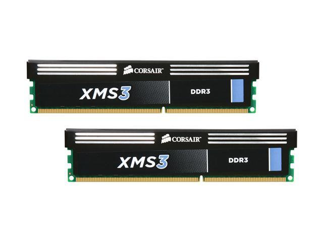 CORSAIR XMS3 8GB (2 x 4GB) 240-Pin DDR3 SDRAM DDR3 1600 (PC3 12800) Desktop Memory Model CMX8GX3M2A1600C9
