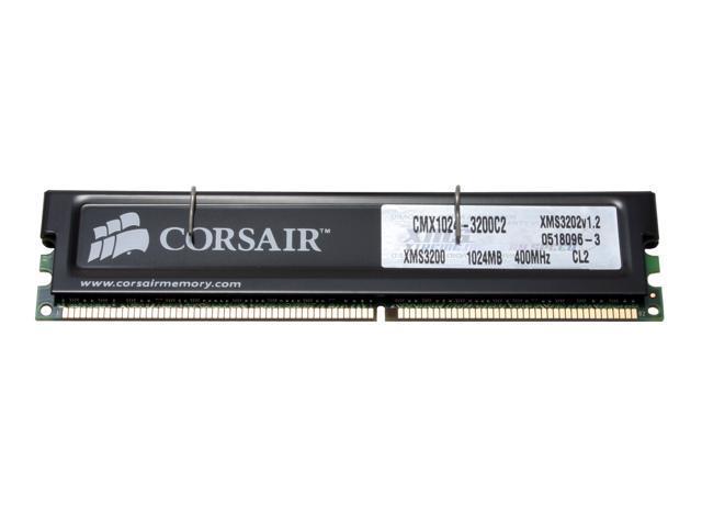 CORSAIR XMS 1GB 184-Pin DDR SDRAM DDR 400 (PC 3200) Desktop Memory Model  CMX1024-3200C2 - Newegg com