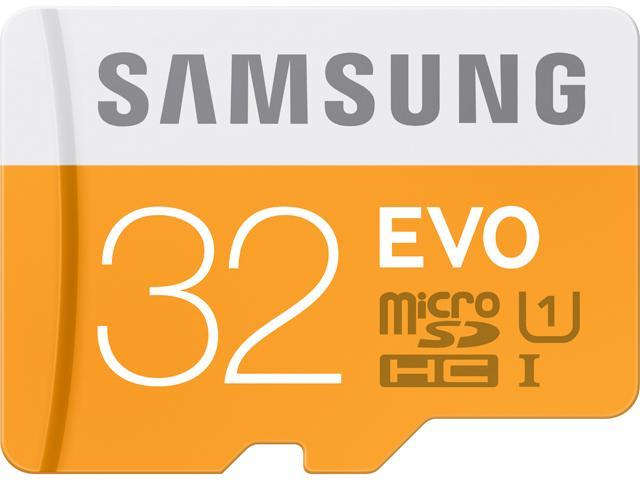 Samsung 32GB EVO microSDHC UHS-I/U1 Class 10 Memory Card with Adapter, Speed Up to 48MB/s (MB-MP32DA/AM) [Old Speed]