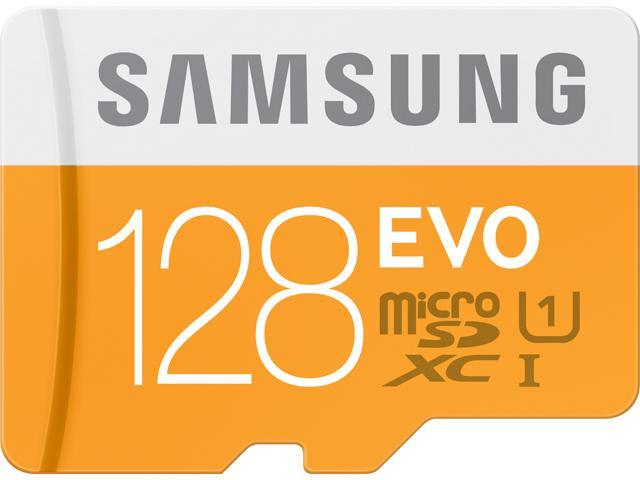 Samsung 128GB EVO microSDXC UHS-I/U1 Class 10 Memory Card with Adapter,  Speed Up to 48MB/s (MB-MP128DA/AM) [Old Speed] - Newegg com