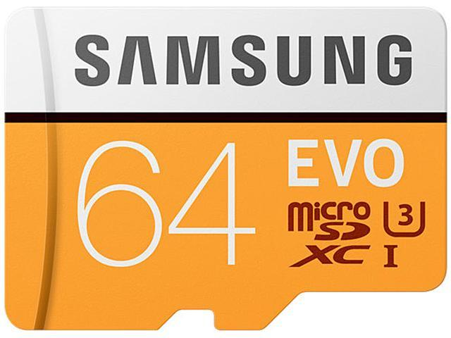 Samsung 64gb Evo Microsdxc Uhs Iu3 Memory Card With Adapter Speed Up To 100mbs Mb Mp64gaam