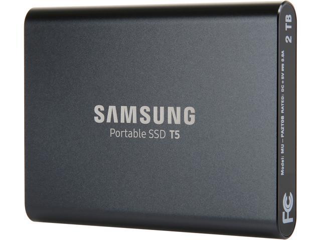 "SAMSUNG T5 2TB 2.50"" USB 3.1 V-NAND Portable SSD MU-PA2T0B/AM"