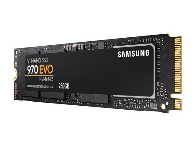 SAMSUNG 970 EVO M 2 2280 250GB PCIe Gen3  X4, NVMe 1 3 64L V-NAND 3-bit MLC  Internal Solid State Drive (SSD) MZ-V7E250BW - Newegg com