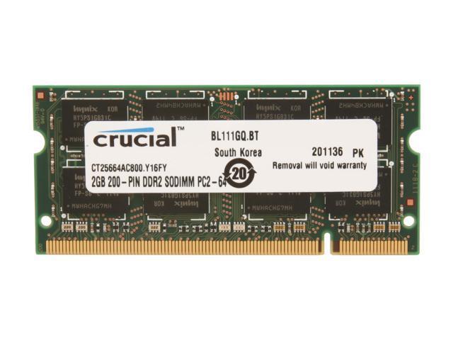 16GB 8GB 4GB 2GB DDR2 667 800MHz SODIMM 1.8V Laptop RAM For Crucial Micron Lot