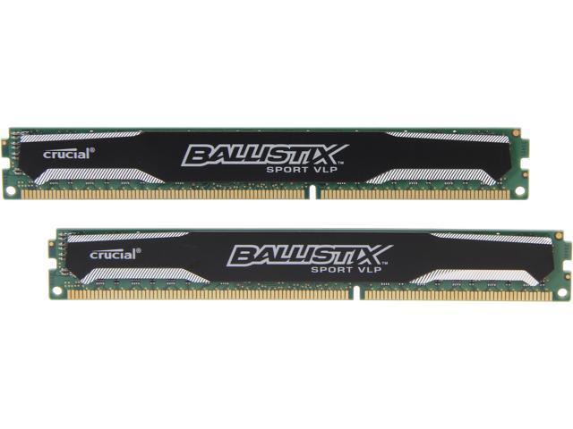 Desktop Memory 2 x 4GB PC3L 12800 Crucial 8GB 240-Pin DDR3 SDRAM DDR3L 1600