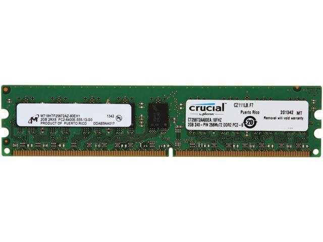 NEW Kingston KVR800D2E6//2G 2GB PC2-6400 240-Pin DIMM Server Memory RAM