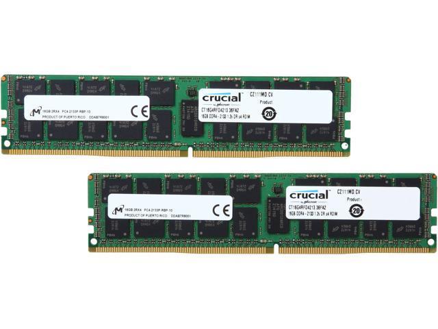 Crucial Technology RAM Memory 1 x 32GB DDR4 SDRAM 32 DDR4 2133 SDRAM CT32G4RFD4213