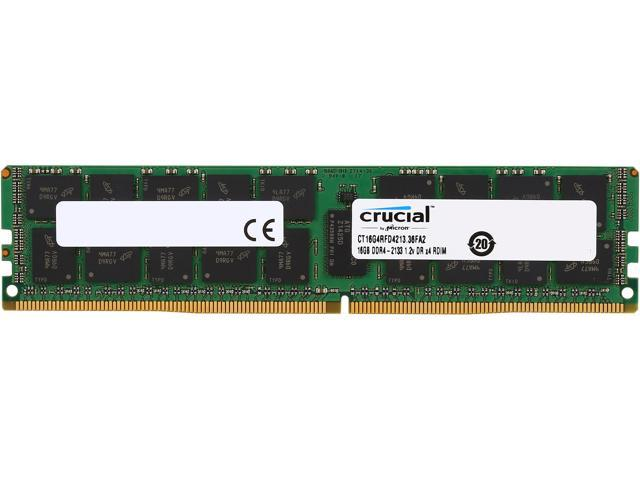 Crucial 16GB 288-Pin DDR4 SDRAM ECC Registered DDR4 2133 (PC4 17000) Server  Memory Model CT16G4RFD4213 - Newegg com