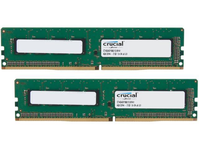 Crucial 8GB (2 x 4GB) 288-Pin DDR4 SDRAM DDR4 2133 (PC4 17000) Desktop  Memory Model CT2K4G4DFS8213 - Newegg com