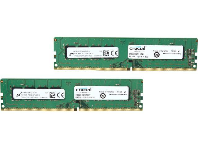 Crucial 16GB (2 x 8GB) 288-Pin DDR4 SDRAM DDR4 2133 (PC4 17000) Desktop  Memory Model CT2K8G4DFD8213 - Newegg com
