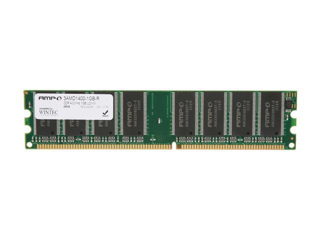 Wintec AMPO 1GB 184 Pin DDR SDRAM DDR 400 PC 3200