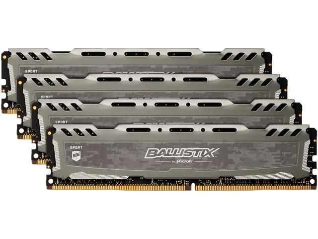 Ballistix Sport LT 16GB Single DDR4 2666 MT//s DR x8 DIMM 288-Pin Mem PC4-21300