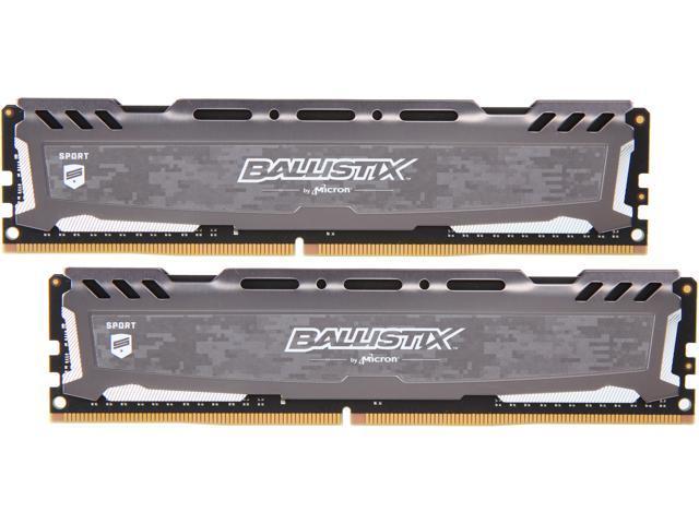 Ballistix Sport LT 32GB (2 x 16GB) 288-Pin DDR4 SDRAM DDR4 3200 (PC4 25600)  Desktop Memory Model BLS2K16G4D32AESB - Newegg com