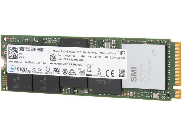 Intel SSD 600p Series (1 0TB, M 2 80mm PCIe 3 0 x4, 3D1, TLC) Reseller  Single Pack - Newegg com