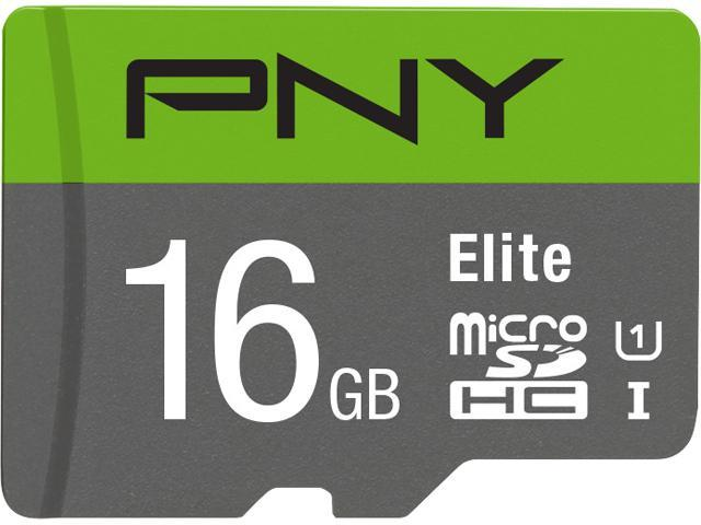 597d6c578 PNY 16GB Elite microSDHC UHS-I U1 Class 10 Memory Card with Adapter ...