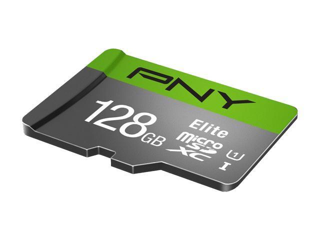PNY Elite microSDXC card 128GB Class 10 UHS-I U1 100MB//s A1 V10