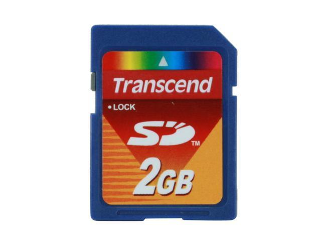 2GB Transcend SD Card Secure Digital Memory Card  for Digital Cameras