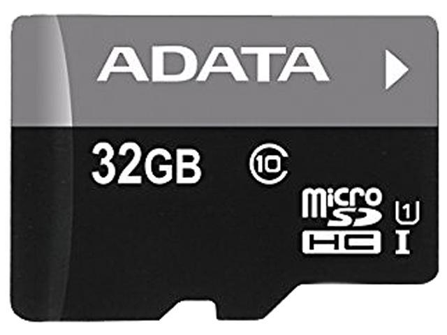 ADATA 32GB Premier microSDHC UHS-I / Class 10 Memory Card with SD Adapter,
