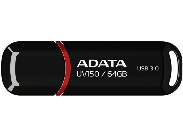 ADATA 64GB UV150 Snap-on Cap USB 3 1 Flash Drive (AUV150-64G-RBK) -  Newegg com