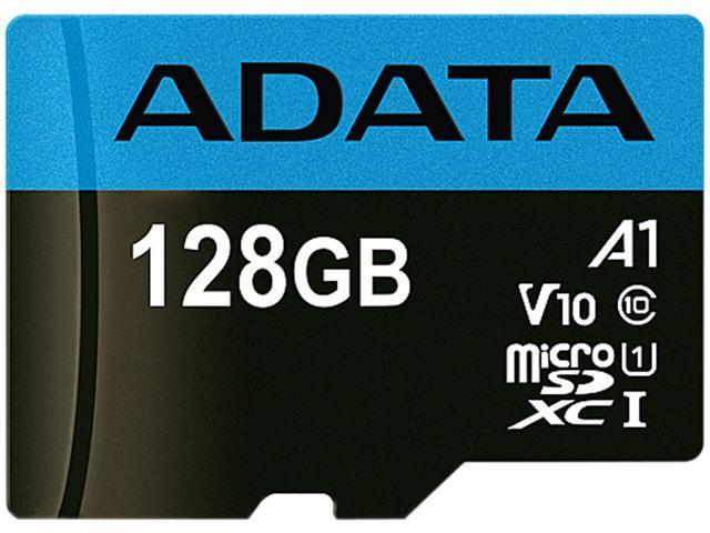 ADATA 128GB Premier microSDXC UHS-I / Class 10 V10 A1 Memory Card with SD