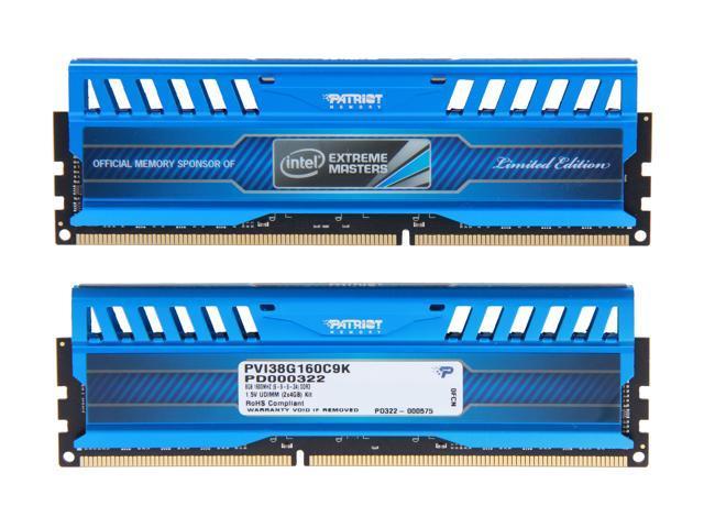 Patriot Intel Extreme Master, Limited Edition 8GB (2 x 4GB) 240-Pin DDR3  SDRAM DDR3 1600 (PC3 12800) Desktop Memory Model PVI38G160C9K - Newegg com