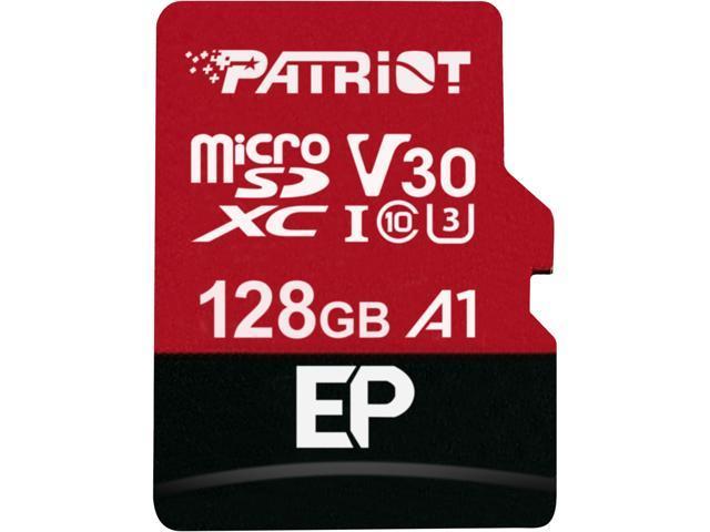 Patriot Memory 128GB EP Series MicroSDXC U3, A1, V30, 4K