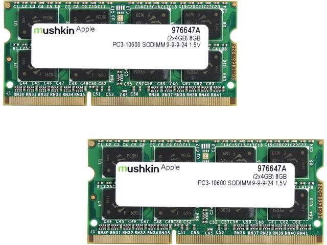 Mushkin Enhanced 8GB (2 x 4GB) 204-Pin DDR3 SO-DIMM DDR3 1333 (PC3 10600)  Memory for Apple Model 976647A - Newegg com