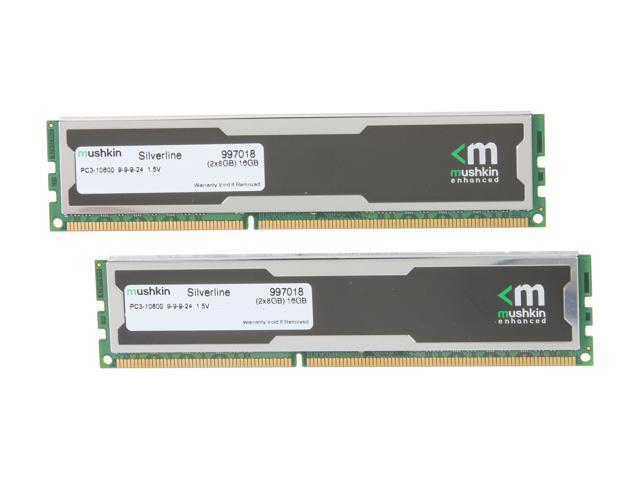 Mushkin Enhanced Silverline 16GB (2 x 8GB) 240-Pin DDR3 SDRAM DDR3 1333  (PC3 10600) Desktop Memory Model 997018 - Newegg com