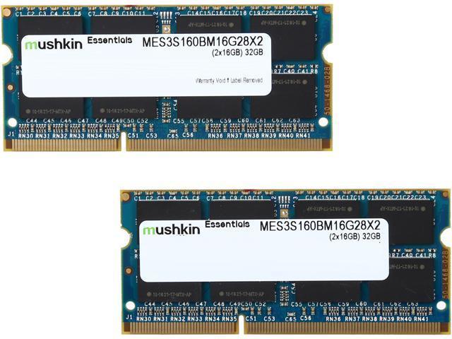 Mushkin Enhanced Essentials 32GB (2 x 16GB) 204-Pin DDR3 SO-DIMM DDR3L 1600  (PC3L 12800) Laptop Memory Model MES3S160BM16G28X2 - Newegg com