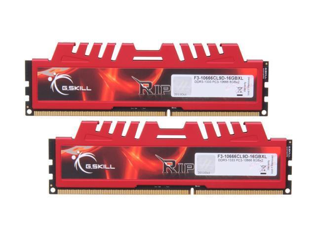 1600 MHz, PC3 12800 G.Skill Ripjaws X Series 16 GB 240-Pin DDR3 SDRAM Desktop Memory F3-12800CL10D-16GBXL 2 x 8 GB