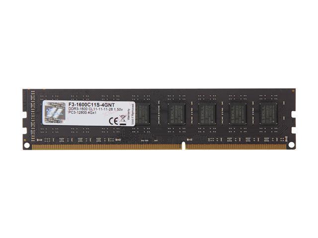 G SKILL Value 4GB 240-Pin DDR3 SDRAM DDR3 1600 (PC3 12800) Desktop Memory  Model F3-1600C11S-4GNT - Newegg com