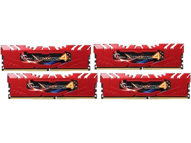 G SKILL Ripjaws 4 Series 32GB (4 x 8GB) 288-Pin DDR4 SDRAM DDR4 2666 (PC4  21300) Desktop Memory Model F4-2666C15Q-32GRR - Newegg com
