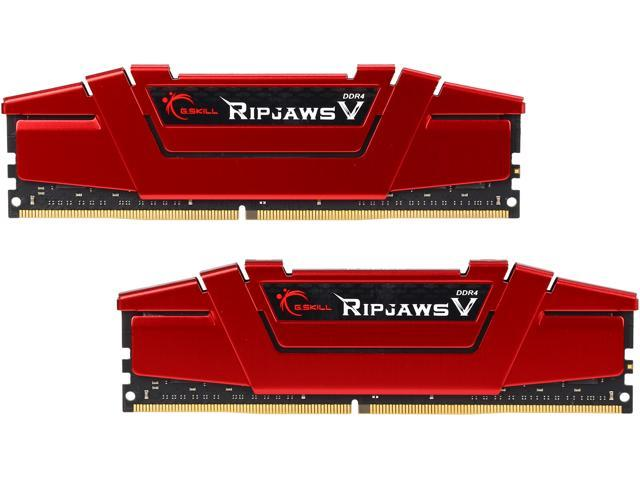 G.SKILL Ripjaws V Series 16GB (2 x 8GB) 288-Pin DDR4 SDRAM DDR4 3000 (PC4 24000) Desktop Memory Model F4-3000C15D-16GVR