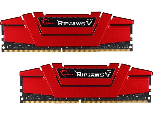 G.SKILL Ripjaws V Series 32GB (2 x 16GB) 288-Pin DDR4 SDRAM DDR4 3200 (PC4 25600) Deskktop Memory Model F4-3200C16D-32GVR