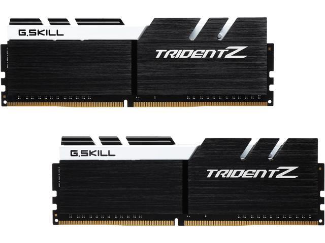 G SKILL TridentZ Series 16GB (2 x 8GB) 288-Pin DDR4 SDRAM DDR4 3200 (PC4  25600) Intel Z370 Platform Desktop Memory Model F4-3200C14D-16GTZKW -
