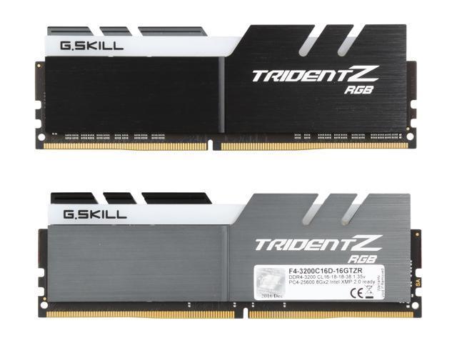 G SKILL TridentZ RGB Series 16GB (2 x 8GB) 288-Pin DDR4 SDRAM DDR4 3200  (PC4 25600) Desktop Memory Model F4-3200C16D-16GTZR - Newegg com