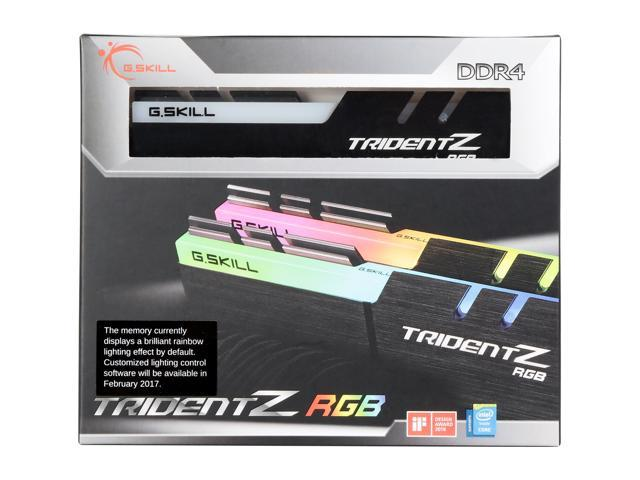 G SKILL TridentZ RGB Series 16GB (2 x 8GB) 288-Pin DDR4 SDRAM DDR4 3200  (PC4 25600) Desktop Memory Model F4-3200C14D-16GTZR - Newegg com
