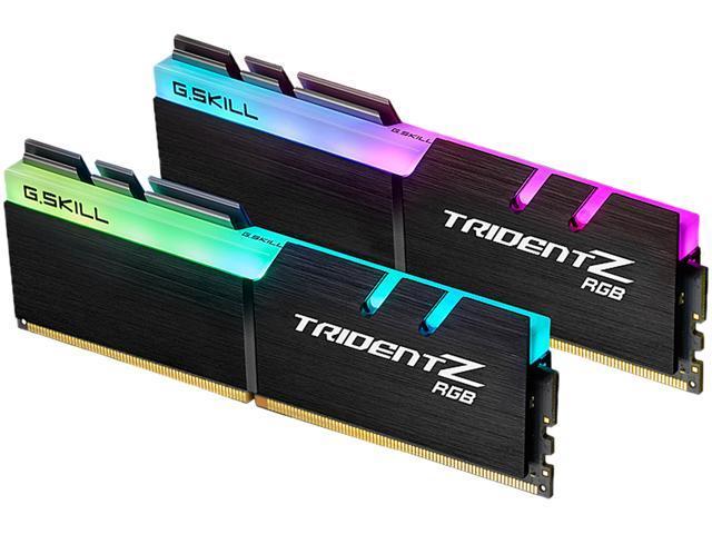 G.SKILL TridentZ RGB Series 32GB (2 x 16GB) 288-Pin DDR4 SDRAM DDR4 3000 (PC4 24000) Desktop Memory Model F4-3000C14D-32GTZR