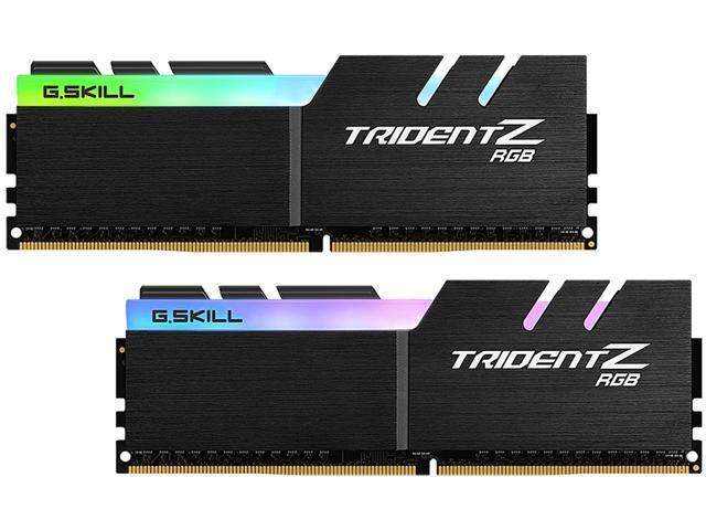 G SKILL Trident Z RGB (For AMD) 16GB (2 x 8GB) 288-Pin DDR4 SDRAM DDR4 2400  (PC4 19200) AMD X370 / X399 Desktop Memory Model F4-2400C15D-16GTZRX -