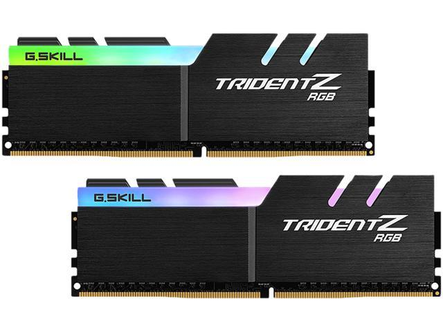 G SKILL Trident Z RGB (For AMD) 16GB (2 x 8GB) 288-Pin DDR4 SDRAM DDR4 3200  (PC4 25600) Desktop Memory Model F4-3200C14D-16GTZRX - Newegg com