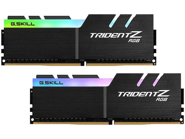 G.SKILL TridentZ RGB Series 16GB (2 x 8GB) 288-Pin DDR4 SDRAM DDR4 2933 (PC4 23400) Desktop Memory Model F4-2933C14D-16GTZRX