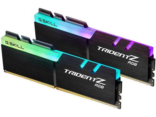 G.SKILL TridentZ RGB Series 32GB (2 x 16GB) 288-Pin DDR4 SDRAM DDR4 3600 (PC4 28800) Intel XMP 2.0 Desktop Memory Model F4-3600C18D-32GTZR