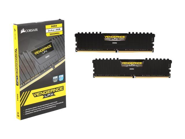 CORSAIR Vengeance LPX 8GB (2 x 4GB) 288-Pin DDR4 SDRAM DDR4 3000 (PC4  24000) Desktop Memory Model CMK8GX4M2B3000C15 - Newegg com