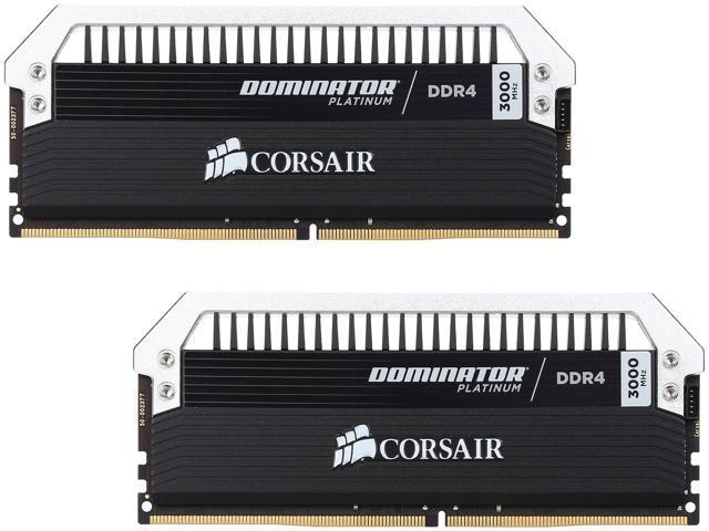 CORSAIR Dominator Platinum 16GB (2 x 8GB) 288-Pin DDR4 SDRAM DDR4 3000 (PC4  24000) Memory Kit Model CMD16GX4M2B3000C15 - Newegg com