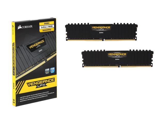 CORSAIR Vengeance LPX 16GB (2 x 8GB) 288-Pin DDR4 SDRAM DDR4 3000 (PC4  24000) Memory Kit Model CMK16GX4M2B3000C15 - Newegg com