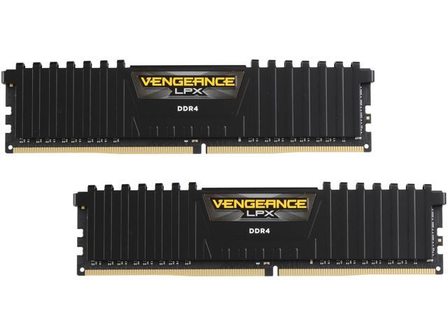 CORSAIR Vengeance LPX 16GB (2 x 8GB) DDR4 2400 (PC4-19200) C16 1 2V for AMD  Ryzen and Intel 200 - Black - Newegg com