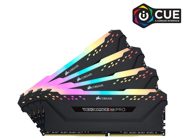 Corsair Vengeance RGB Pro 32GB (4 x 8GB) 288-Pin DDR4 DRAM DDR4 3200 (PC4 25600) Desktop Memory Model CMW32GX4M4C3200C16