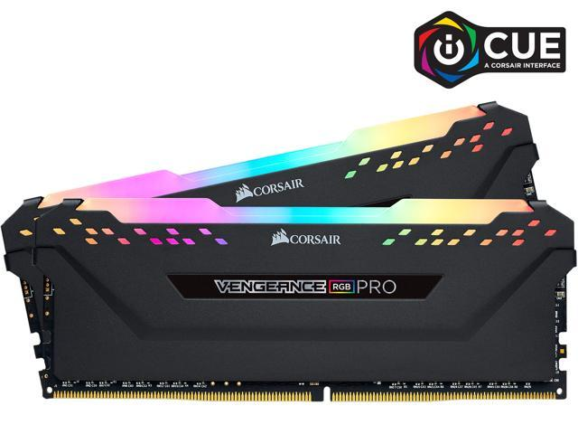 CORSAIR Vengeance RGB Pro 32GB (2 x 16GB) 288-Pin DDR4 SDRAM DDR4 3600 (PC4 28800) Intel XMP 2.0 Desktop Memory Model CMW32GX4M2D3600C18