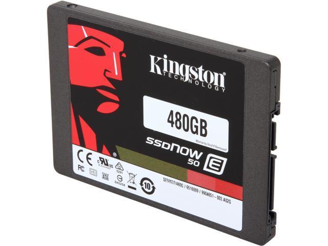 Kingston SSDnow 50 E 480GB SE50S37//480G 2.5/'/' SATA Solid State Drive